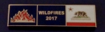 California WILDFIRES 2017 Gold Award/Commendation Uniform Bar/Pin