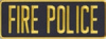 FIRE POLICE Medium Gold on Midnight Navy Back Panel Patch 11 X 4