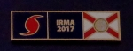 HURRICANE IRMA 2017 Florida GOLD Uniform Award/Commendation Bar pin FL