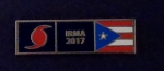 HURRICANE IRMA 2017 Puerto Rican Flag PR Rico Uniform Award/Commendation Bar pin