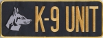 "K-9 UNIT Gold on Midnight Navy Back Panel Patch 10.75"" X 4"""