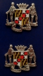 Maryland State Crest Silver COLLAR/LAPEL PINS